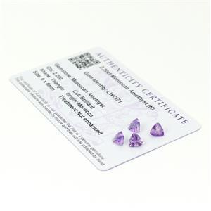 Moroccan Amethyst Gemstone Pieces  2.67cts