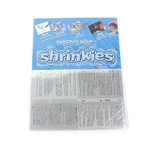 Shrinkles Shrink Art Craft Pack - Crystal Clear 32cm (6 Sheets)