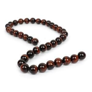 260cts Red Tiger Eye Plain Rounds Approx 10mm, 38cm