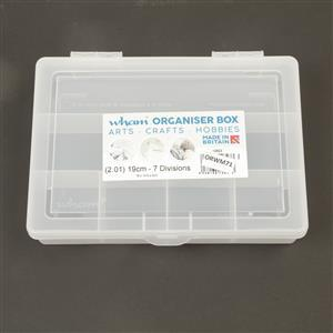 2.01 Clear Organiser 19cm with 7 Divisions (19x14.5x4cm)