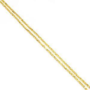 """18"""" Midas Couture Diamond Cut Criss Cross Chain 4.65g"""