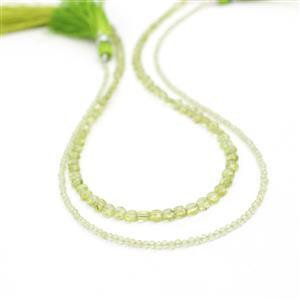 Green with Envy! 20cts Peridot Faceted Puffy Coins & 10cts Peridot Faceted Rounds