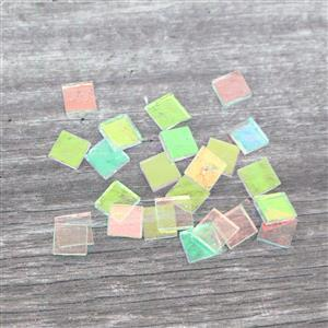 """Fuseworks Clear Dichroic Fusible Glass Chips 24 x 0.5"""""""