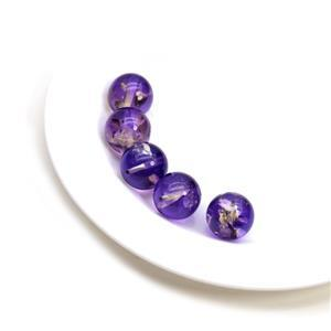 Baltic Violet Ombre Amber 12mm Rounds (5pc)