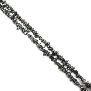 "640cts Haematite Small Chips Approx 4x2 - 8x5mm, 60"" Strands"