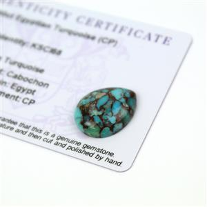 8.6cts Egyptian Turquoise 20x16mm Pear (CP)