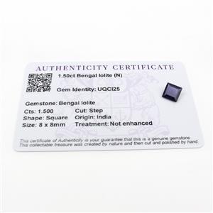 1.5cts Bengal Iolite 8x8mm Square  (N)