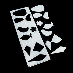 3x Multi Shaped Acrylic Stencils