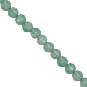 8ct Green Onyx Faceted Round Approx 2.3x2.1mm 30cm Strand