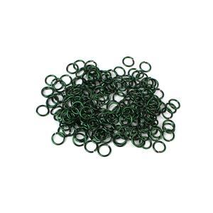 Dark Green Coloured Copper Open Jump Rings Approx 6mm