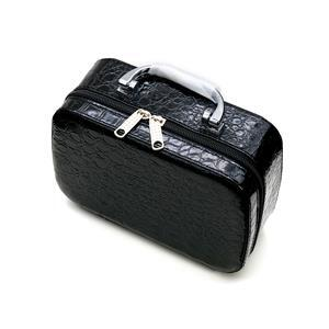 Black Bead storage suitcase with 24 pots 20x14x7cm