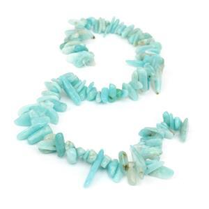 250cts Amazonite Long Chips Approx 4x7 - 30x4 mm, 38cm strand