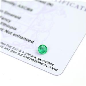 0.4cts Ethiopian Emerald 5x5mm Round  (N)