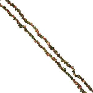 "295cts Unakite Small Nuggets Approx 4x8mm, 32"" Strand"
