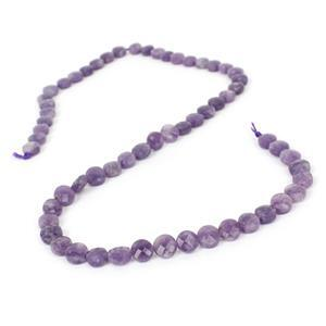 60cts Lepidolite Faceted Coins Approx 6mm, 38cm Strand