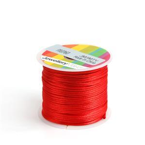 10m Red Satin Cord, 1mm