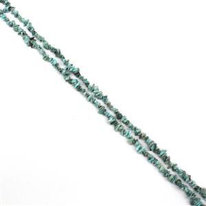 """310cts Larimar Small Chips Approx 5x4mm, 60"""" Strand"""