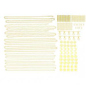 Gold Colour Silver Plated Base Metal Bumper Findings Pack (228pcs)