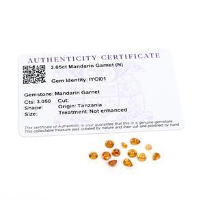 3.05cts Mandarin Garnet