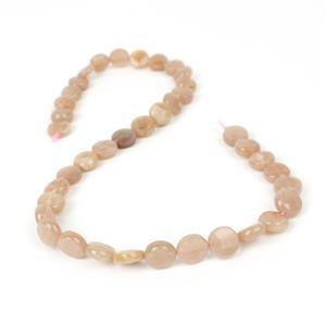 120cts Sunstone Faceted Coins Approx 10mm, 38cm Strand