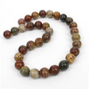 390cts Picasso Jasper Plain Round Loose Beads Strand 12mm 38cm