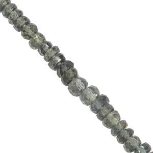 28cts Australian Sapphire Faceted Rondelles Approx 2.5x1.3mm to 4.8x3mm 20cm Strand