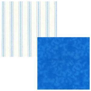 Creative Grids Blue Stripes Fabric Bundle (1m)
