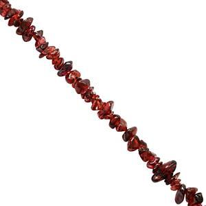 400cts Garnet Bead Nugget Approx 3.5x1 to 11x4mm, 150cm Strand