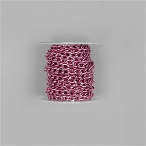 5m Pink Aluminum Alloy Chain Approx 8x5mm