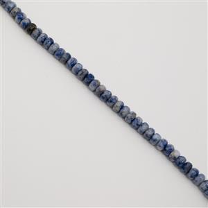 130cts Bolivian Sodalite Faceted Rondelles Approx 8x5mm, 38cm