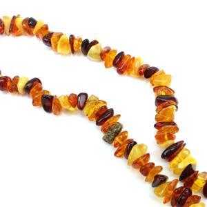 Baltic Multi-Colour Amber Bead Chips, 38cm Strand