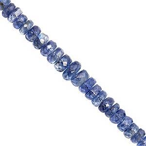 45cts Nilamani  Faceted Rondelle Approx 3x1mm to 5x3mm, 20cm Strand