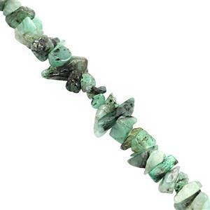 100cts Emerald Bead Nugget Approx 3x1.50 to 8x3mm, 80cm Strand