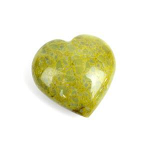 55g Green Opal Heart