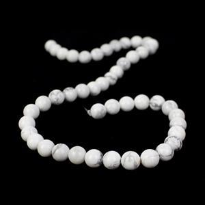 180cts Howlite Plain Rounds Approx 8mm, 38cm