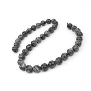 260cts Larvikite Faceted Rounds Approx 10mm, 38cm Strand
