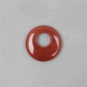 70cts Red Agate Donut Approx 40mm
