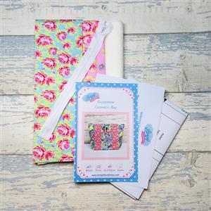 Living in Loveliness -  Rose Cosmetic Bag  Kit