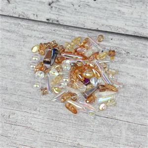 Preciosa Ornela Trade Mark Bead Mix - Metallic Crystal(20g)