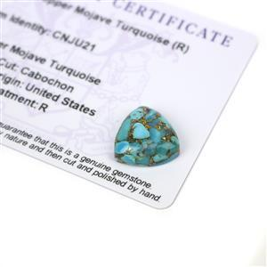 9.25cts Copper Mojave Turquoise 15x15mm Triangle  (R)