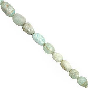 162cts Amazonite Graduated Smooth Tumbles Approx 6x5 to 15x8mm, 38cm Strand