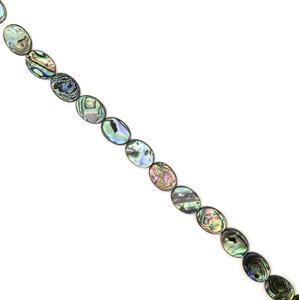 Abalone Flat Ovals Approx 25X18mm, 38cm strand