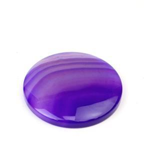 70cts Purple Stripe Agate Pendant Coin Approx 40mm,1pk