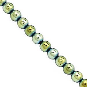 315cts Green Haematite Plain Round Approx 8mm, 39cm Strand