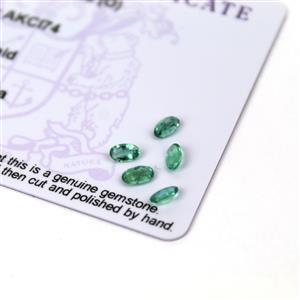 0.9cts Zambian Emerald 5x3mm Oval Pack of 5 (O)