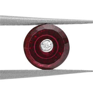 1.35cts TorusRing Cut Garnet 7x7mm Round  (N)