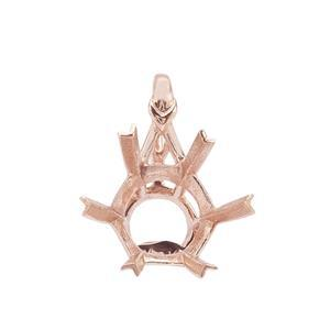 9K Rose Gold Pendant Mount (To fit 10mm Snowflake Cut Gemstone)- 1pcs