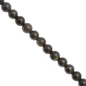 58cts Golden Sheen Obsidian Smooth Round Approx 6mm, 28cm Strand