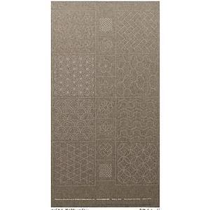 Sashiko Tsumugi Preprinted Geo 19 Grey Fabric Panel 108x61cm