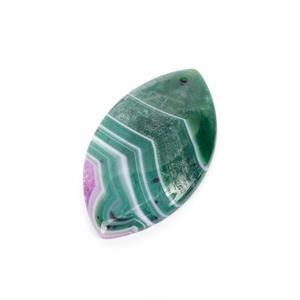 60cts Green and Fuchsia with Quartz Agate Pendant Marquise Approx 30x50mm ,1pk